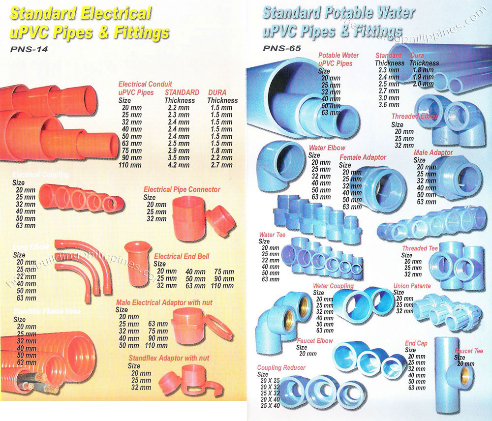 Standard Electrical Upvc Pipes And Fittings Standard
