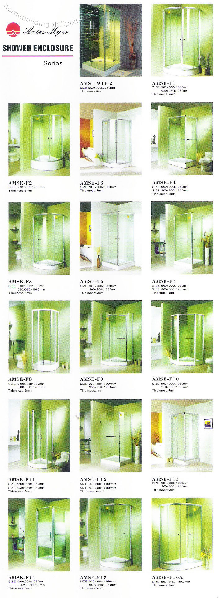 Myer bathroom accessories - Shower Enclosure