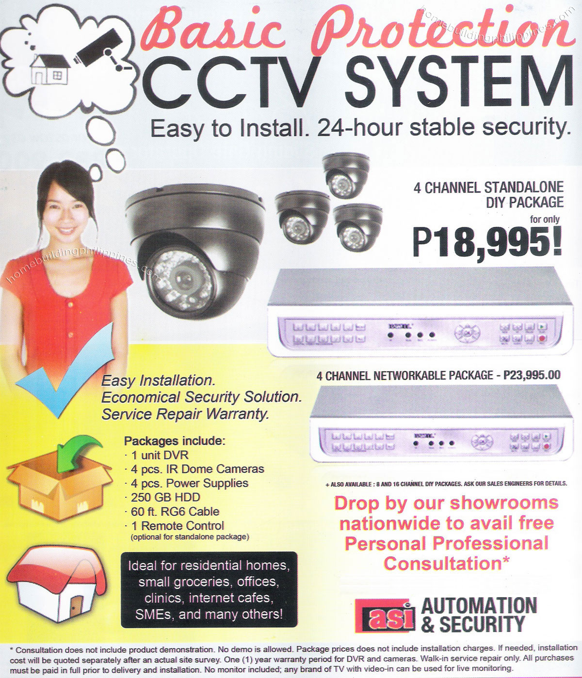 Home Office Basic Protection Cctv System Easy To Install