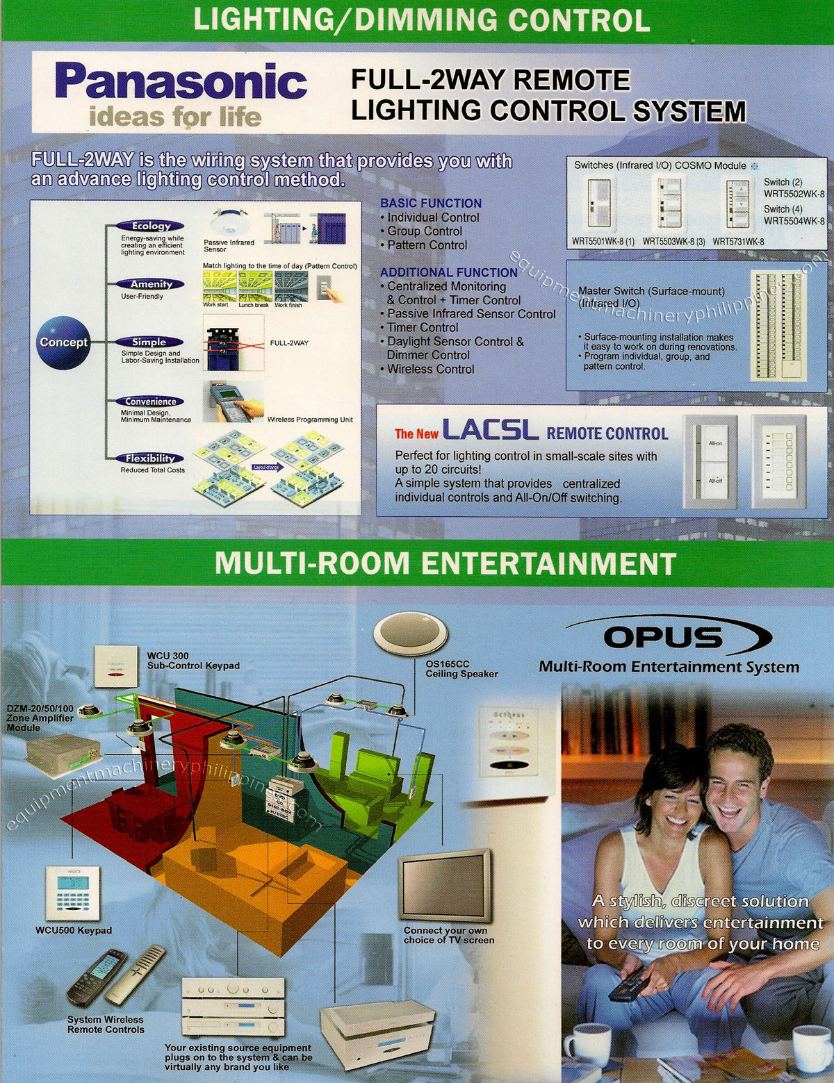 Lighting Dimming Control Panasonic Full 2 Way Remote Wireless Controlled Lightdimmer System Opus Multi Room