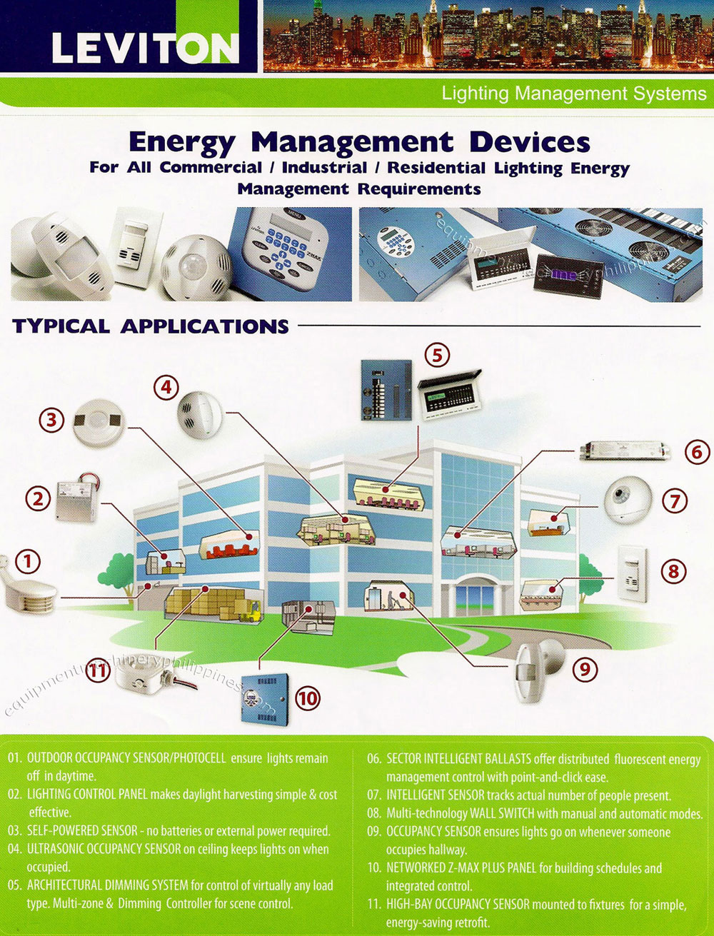 Leviton Energy Management Devices for Commercial, Industrial ...