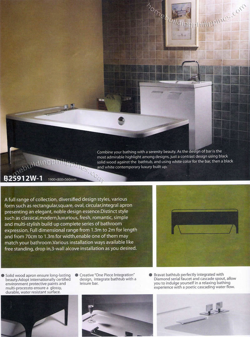 Bathtub Designs Sizes Dimensions Bathroom Philippines