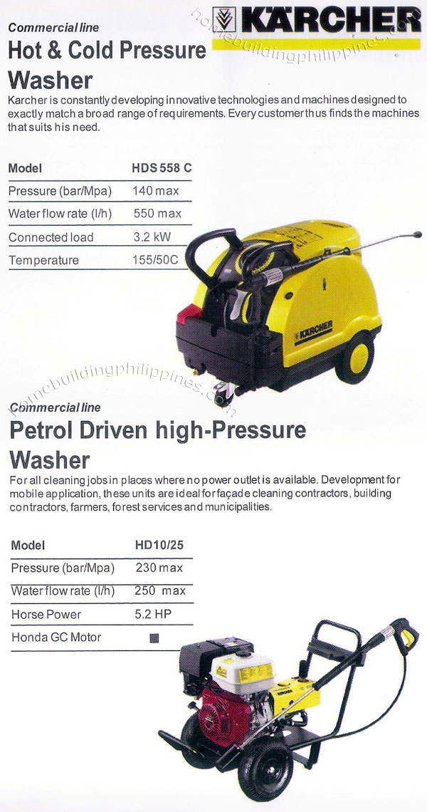 Hot Amp Cold Pressure Washer Petrol Driven High Pressure