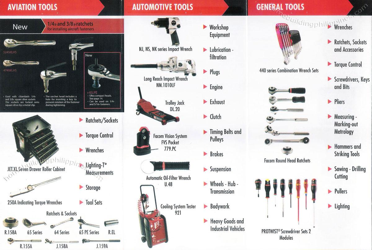 Facom Aviation Tools Automotive Tools General Tools