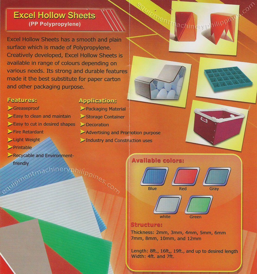 Excel Polypropylene Hollow Sheet Philippines