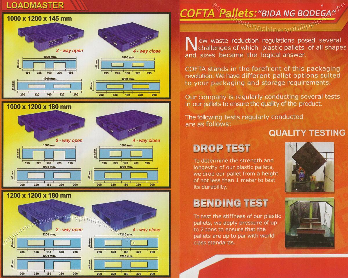 Cofta Plastic Pallet Philippines