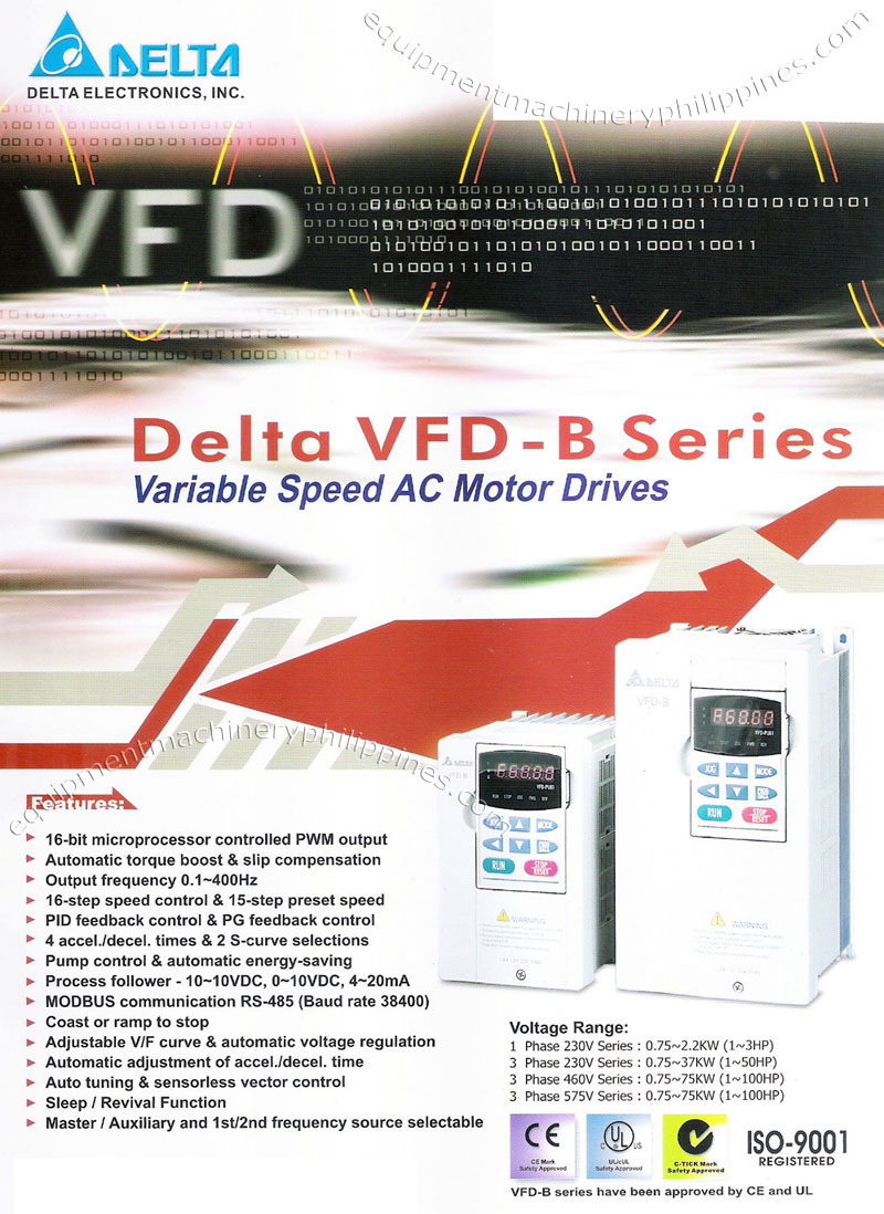 Delta Vfd B Series Variable Speed Ac Motor Drives Philippines Wiring Diagram