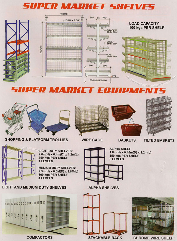 Supermarket Shelves Shopping Cart Platform Trolley Wire