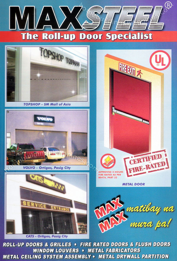 Roll up doors grilles fire rated door flush door for Best rated windows for new home construction