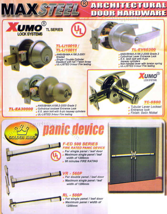 Architectural Door Hardware Lock Systems Panic Device