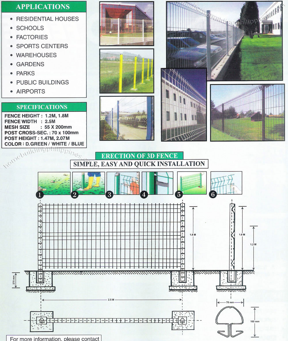 Steel Wire 3D Fence; Security Perimeter Fence Philippines
