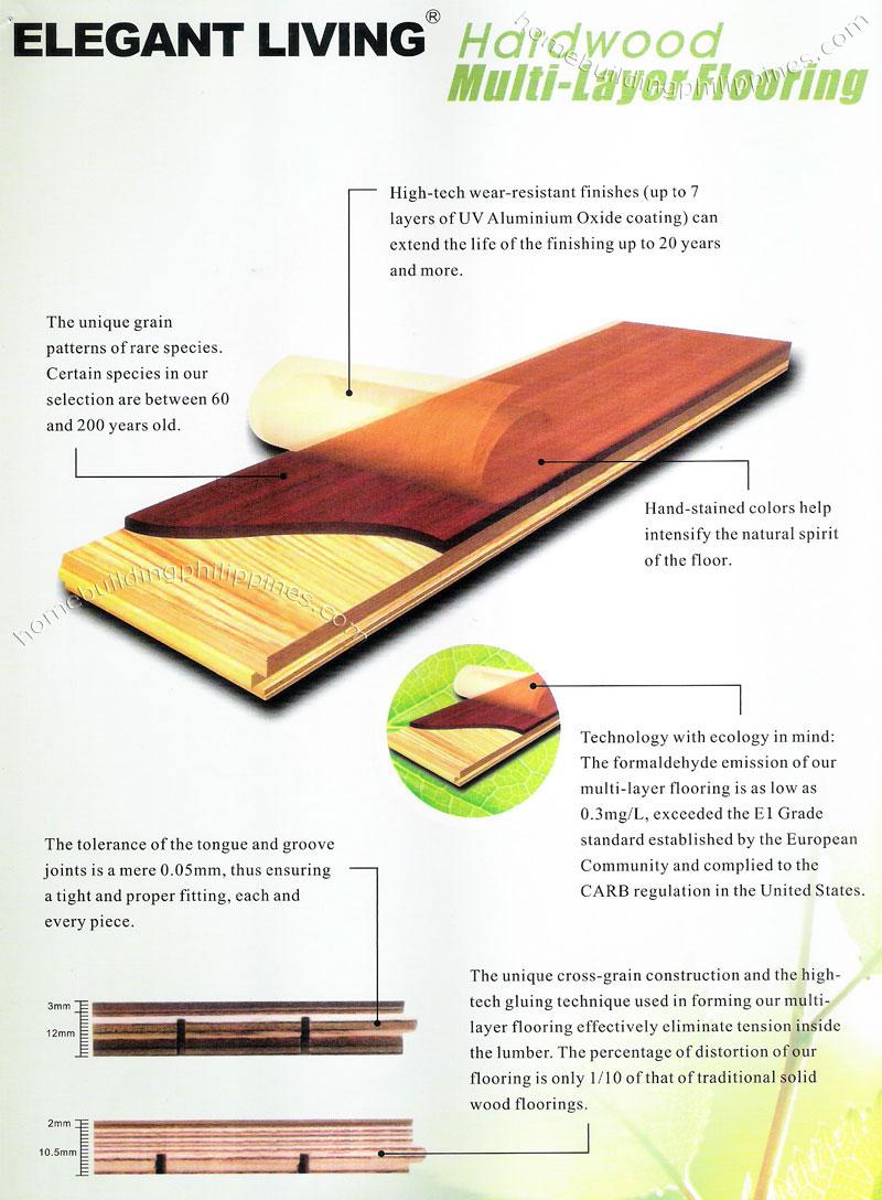 Hardwood Multi Layer Flooring Features