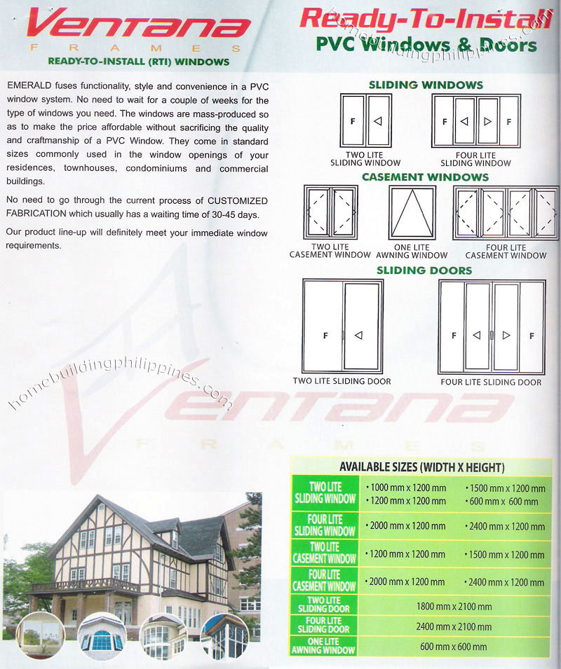 Ventana PVC Window & Door by Emerald Philippines