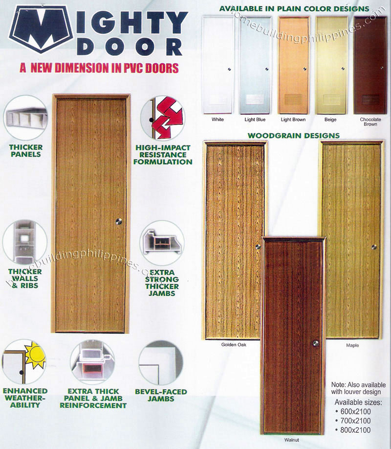 Mighty Door Interior Pvc Doors By Emerald Philippines
