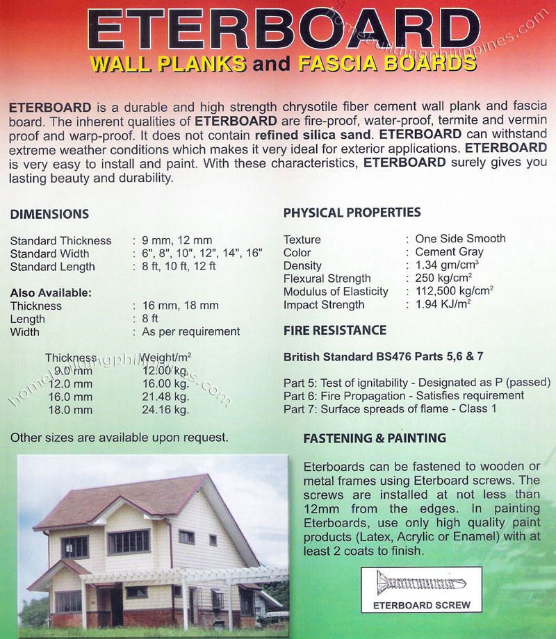 Eterboard Wall Planks and Fascia Boards by Eterton Philippines