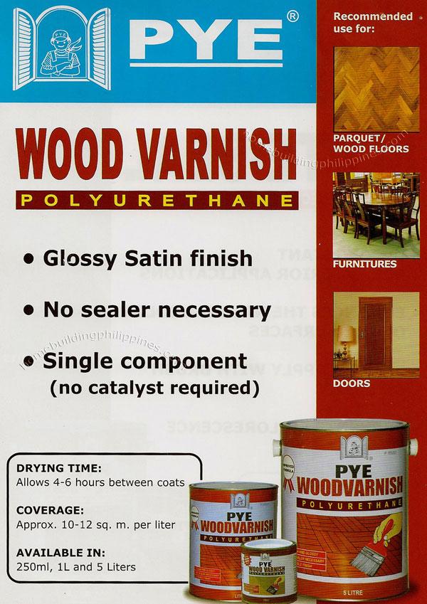 Pye Wood Varnish Polyurethane Philippines