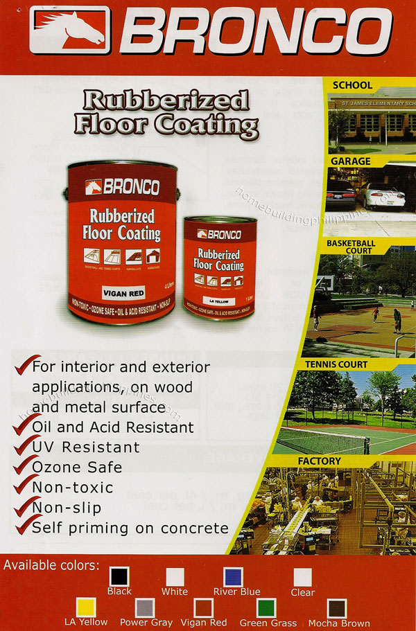 Bronco Rubberized Floor Coating