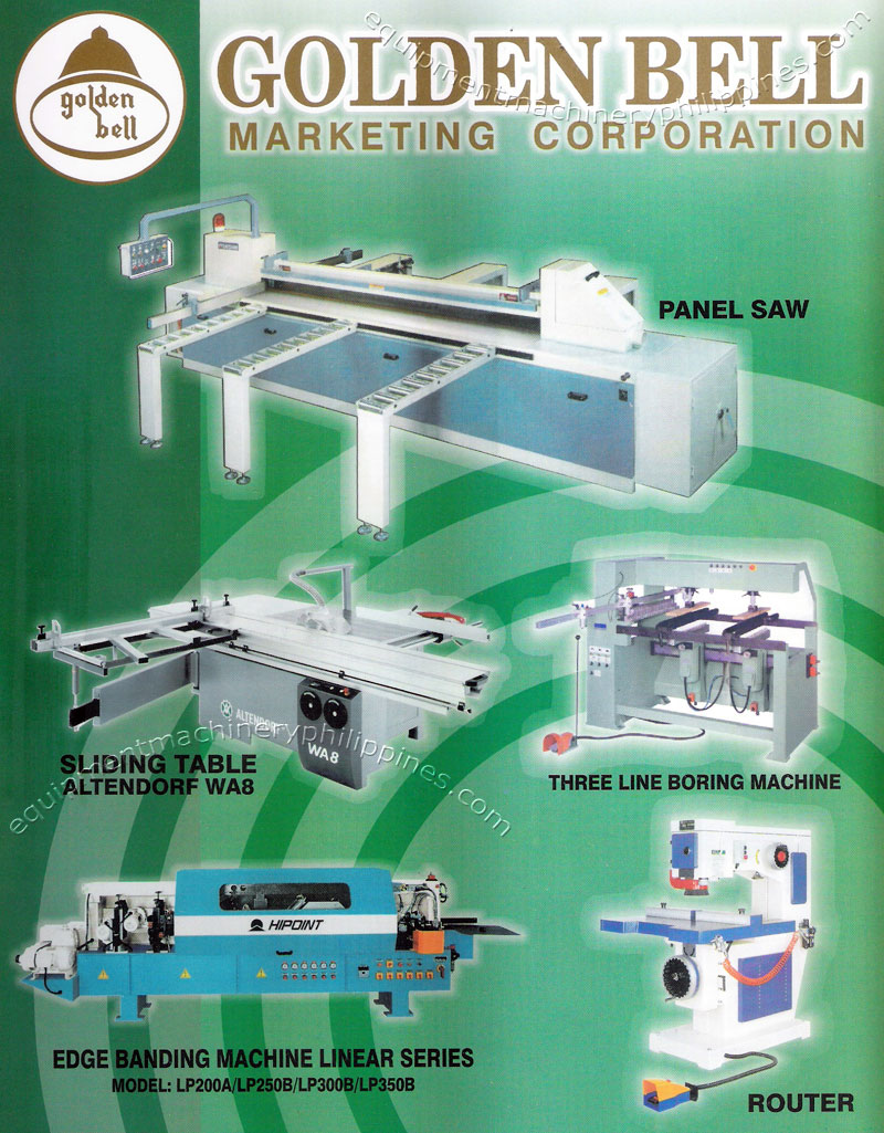Woodworking Machinery And Equipment By Golden Bell Marketing
