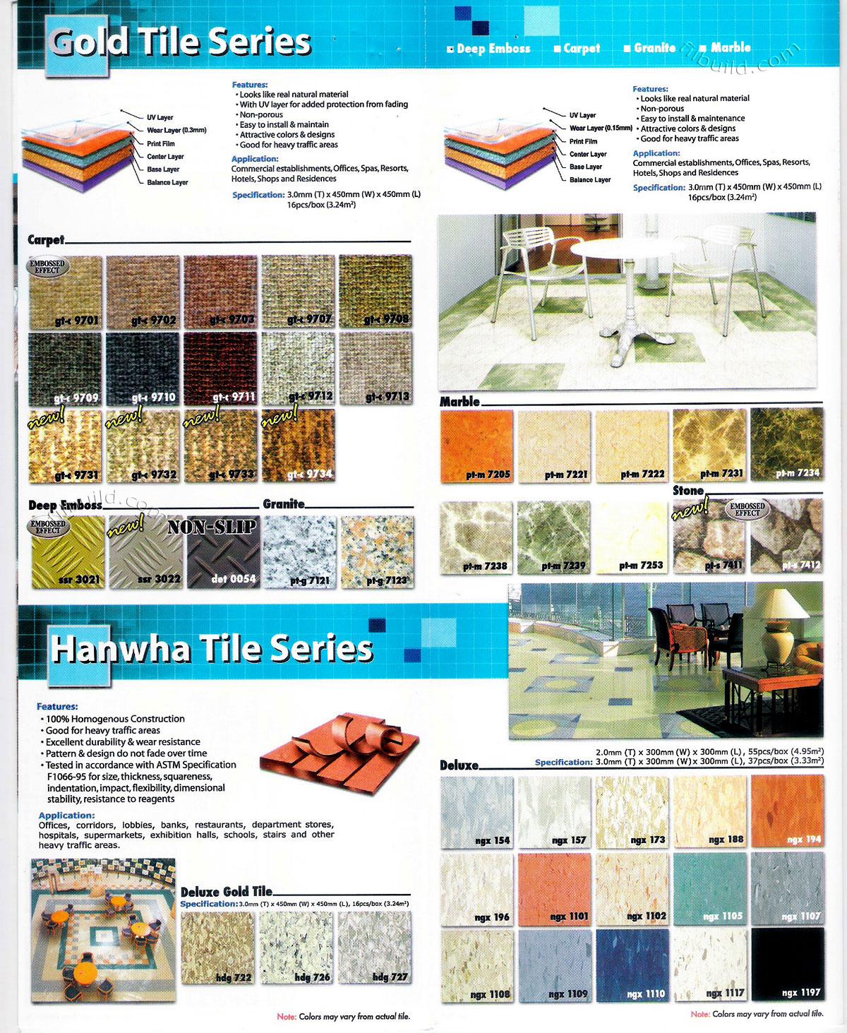 Carpet Tile Flooring Deep Emboss Granite Marble Tile