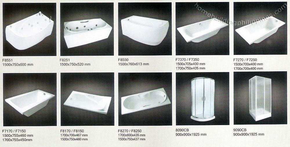 acrylic bathtub, shower enclosurehcg philippines