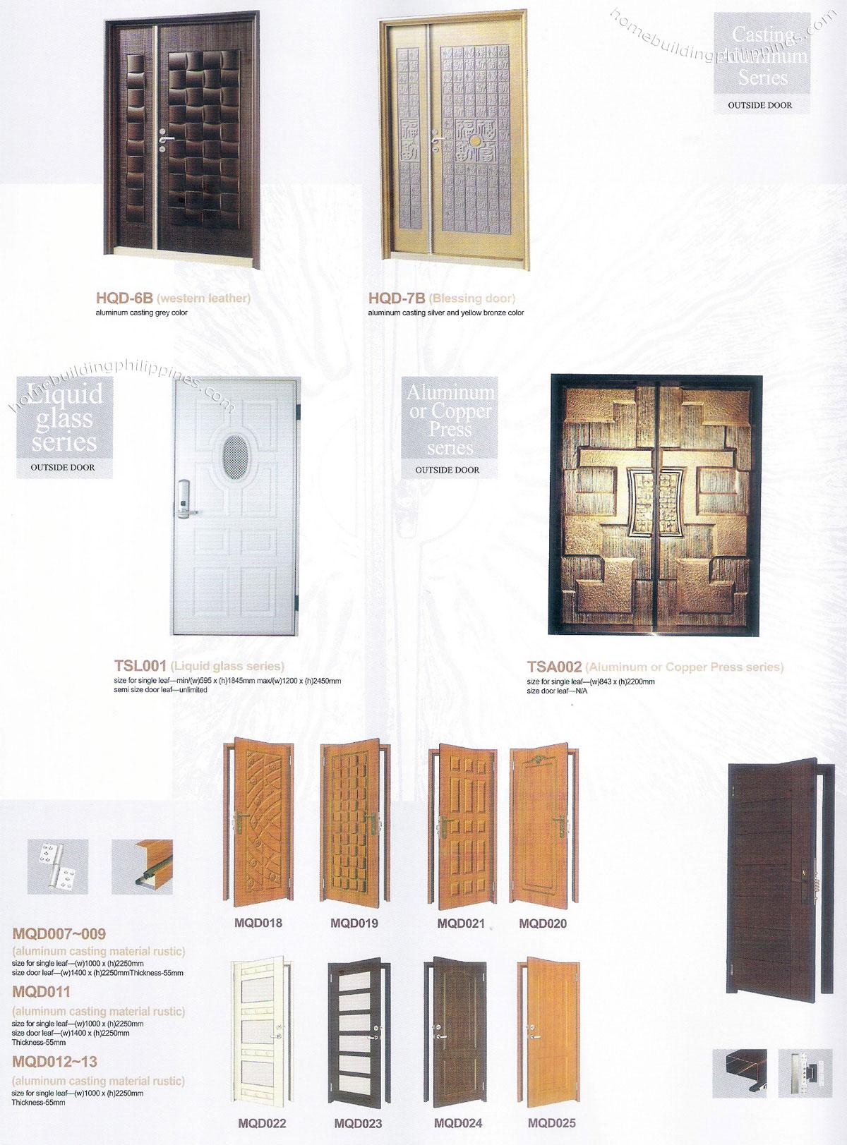 Liquid Glass Outside Doors Aluminum Or Copper Press