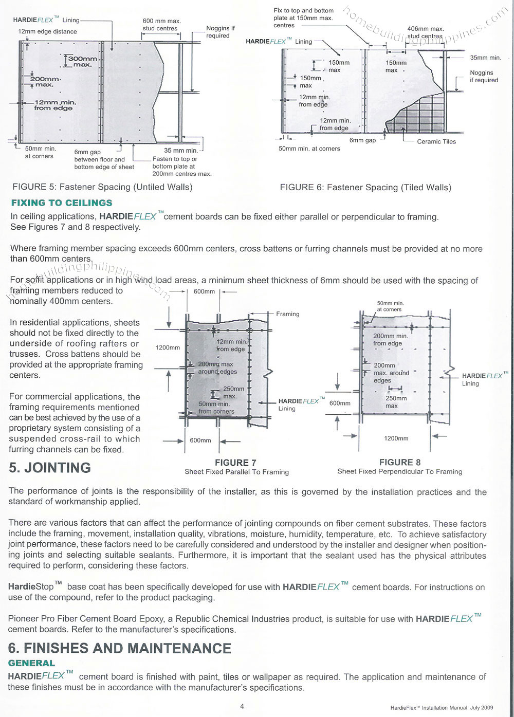 Hardiflex Durable Fiber Cement Board Manual Philippines