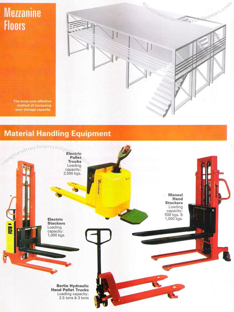 Mezzanine Floors Material Handling Equipment Electric