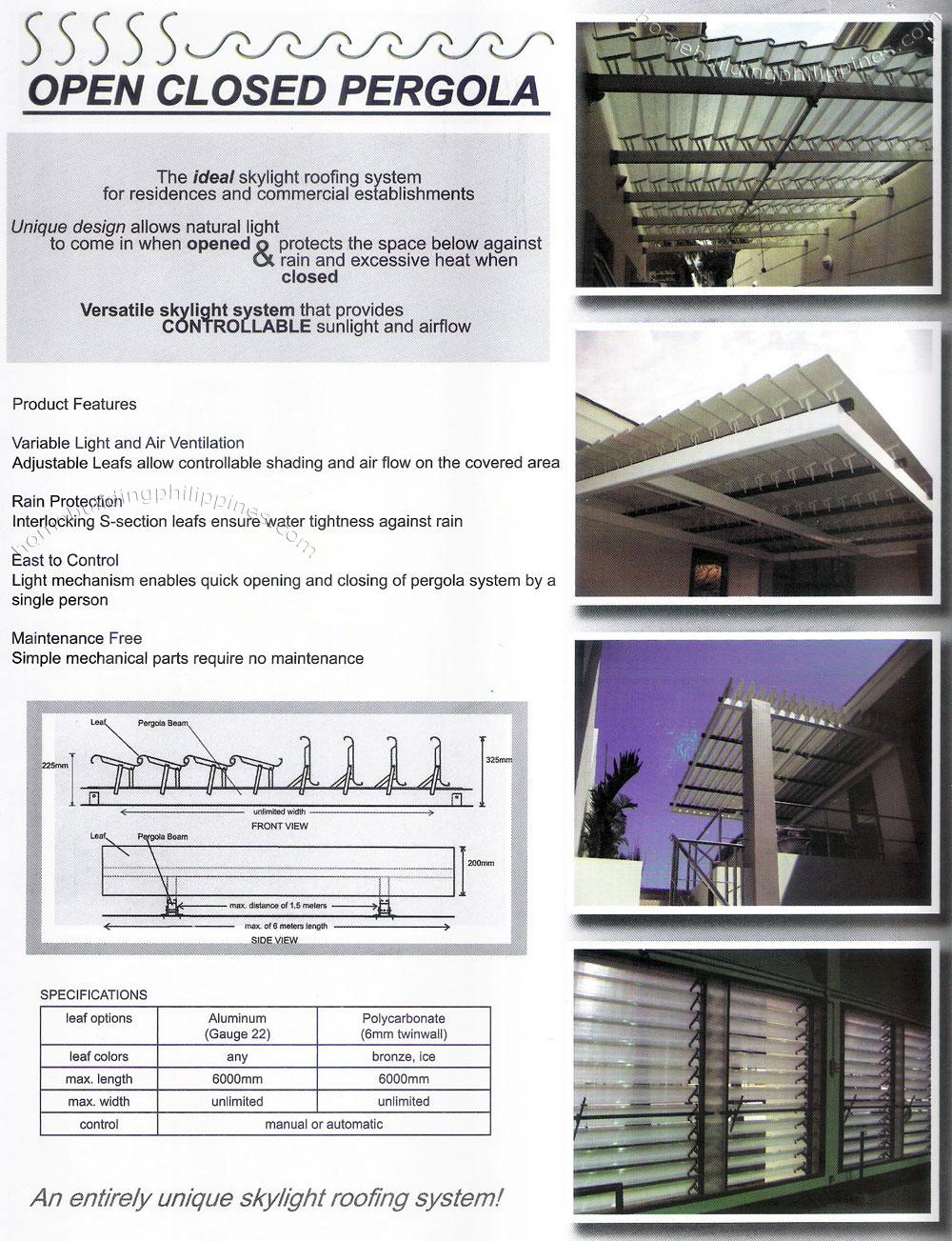 Open Closed Pergola Home Pergola Design Philippines