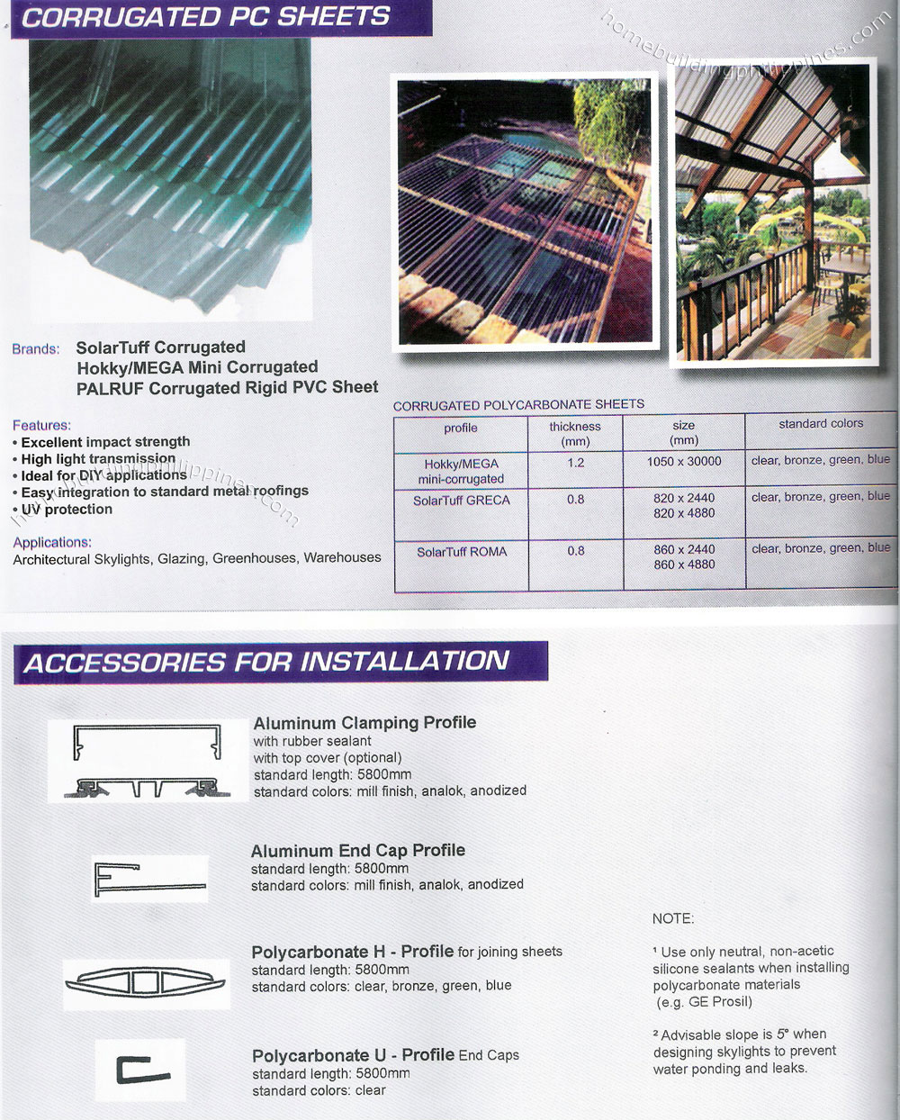 Corrugated Polycarbonate Roofing Sheet Greenhouse Philippines