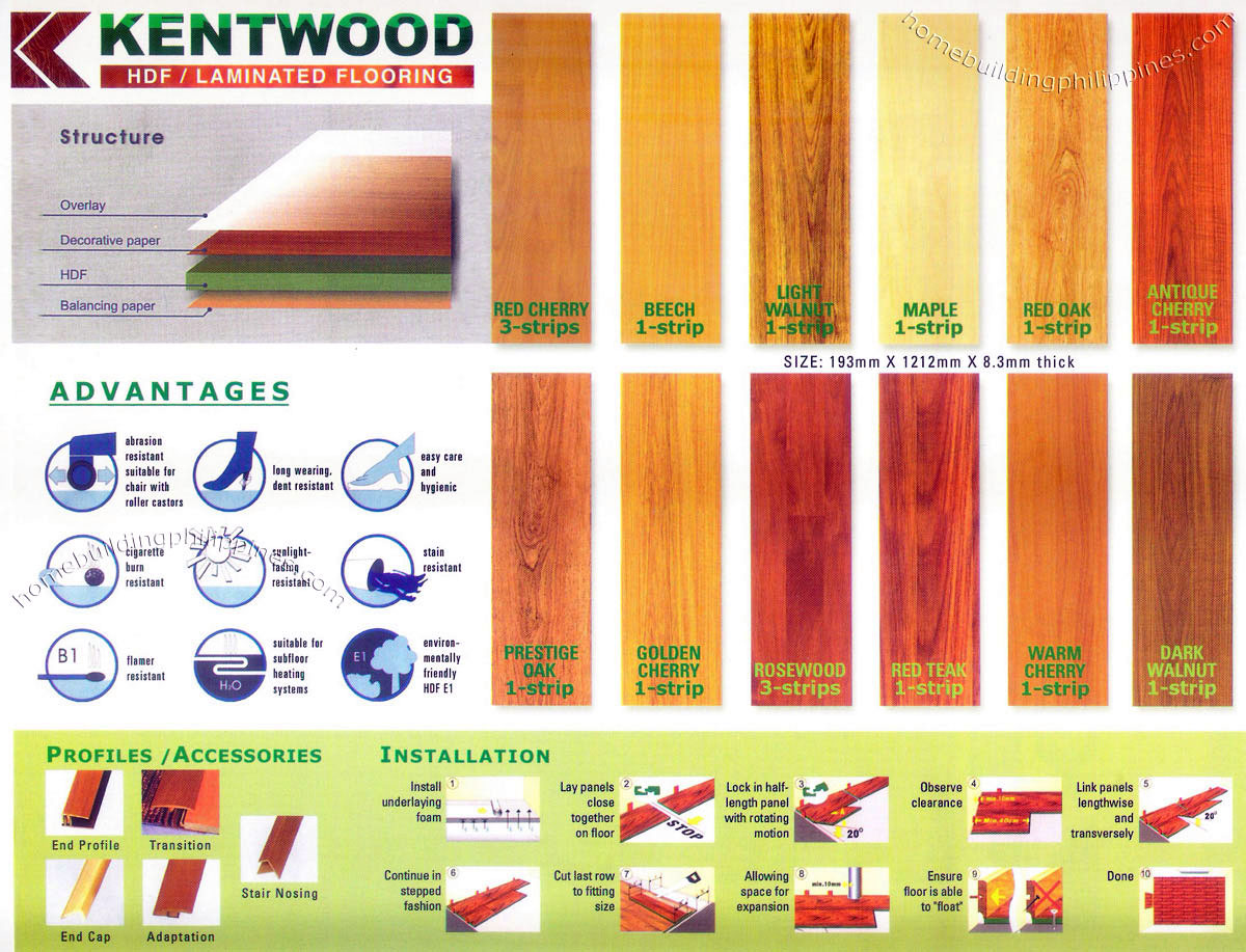 Kentwood HDF / Laminated Flooring