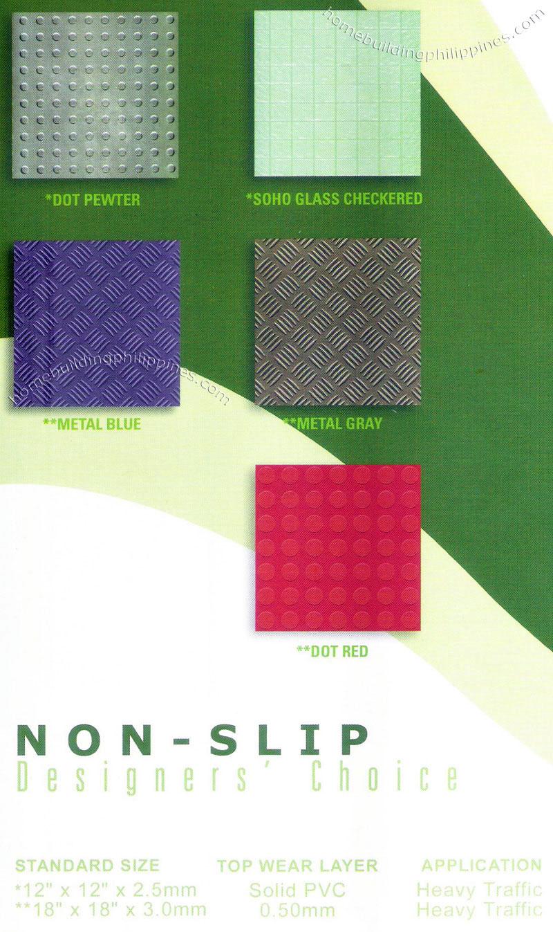 Non Slip Floor Vinyl Tile Flooring Design Philippines