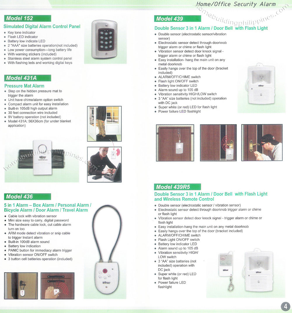 Residential Monitoring Security Burglar Alarm Philippines Panic Button Wiring