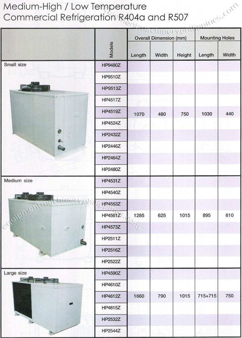 medium high low temperature commercial refrigeration philippines rh filbuild com Fan Capacitor Wiring Diagram AC Unit Schematic Diagram