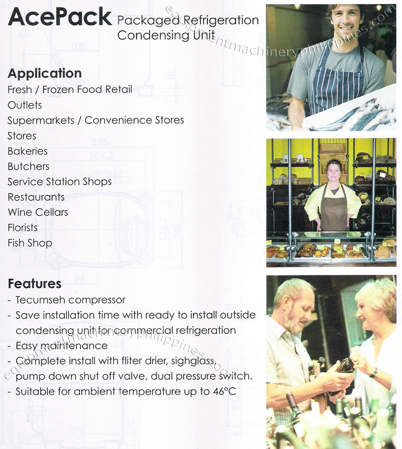 tecumseh acepack packaged refrigeration condensing unit philippines rh filbuild com Single Phase Compressor Wiring Diagram Compressor Wiring Diagram