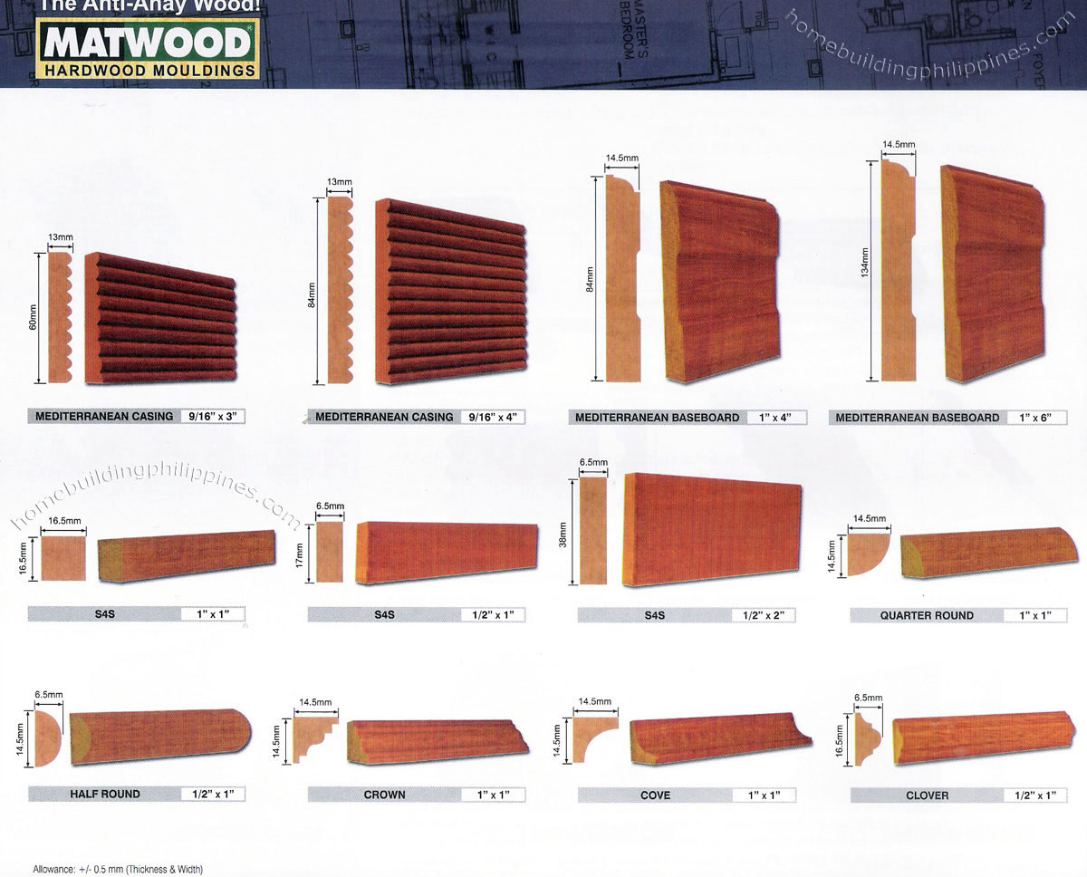 Round Crown Cove Clover Wood Moulding Designs Philippines