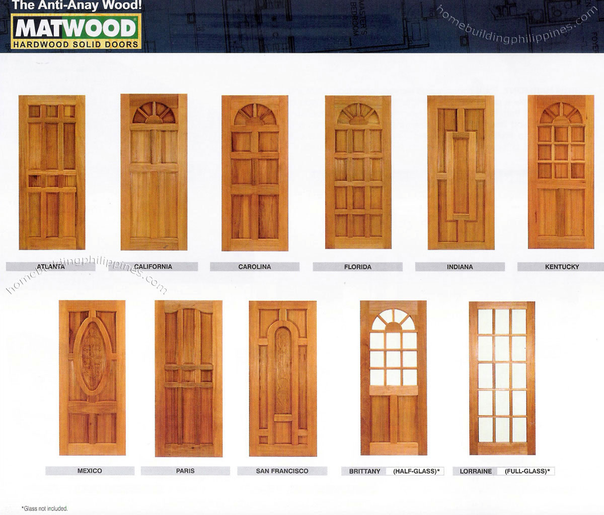 Solid hardwood doors wood door design philippines for Window door design