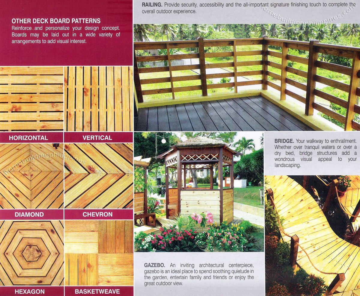 All Weather Outdoor Wood For Railing Bridge Gazebo