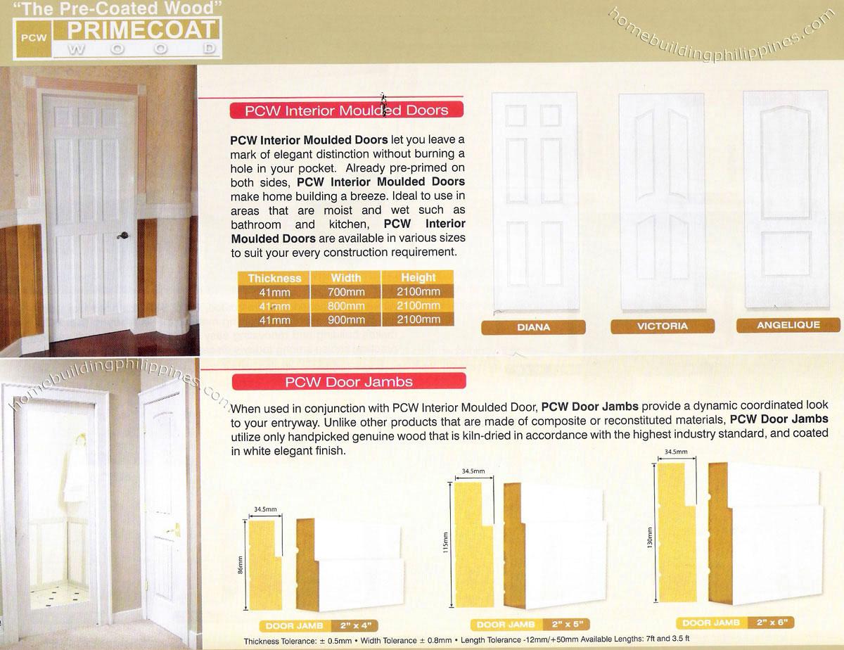 Pre coated interior moulded doors door design philippines for Door design in philippines