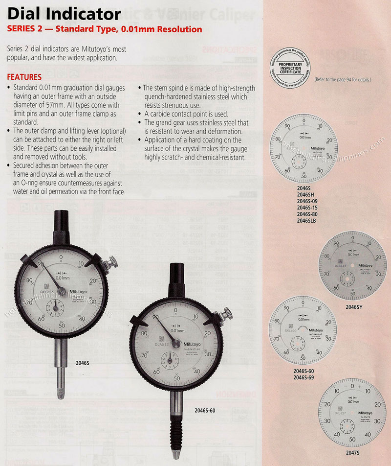Types Of Dial Indicators : Dial indicator standard type philippines