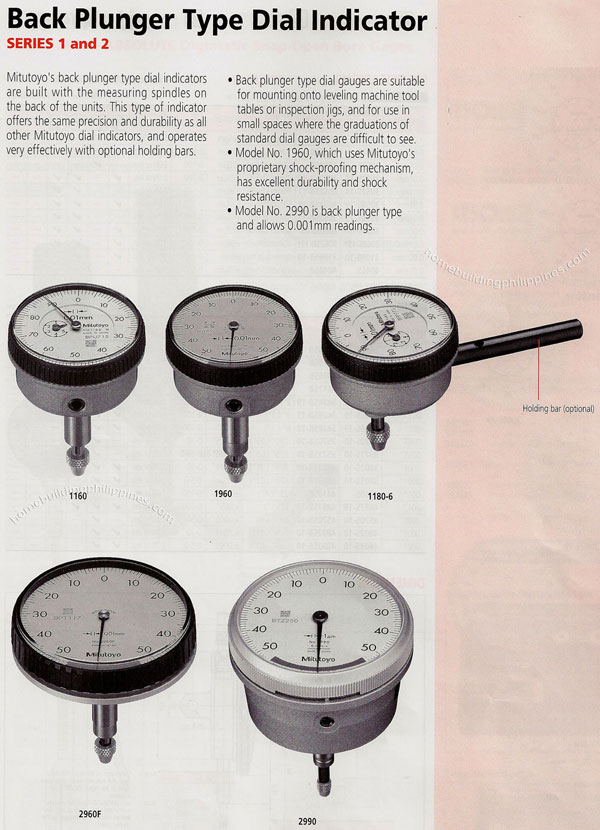 Types Of Dial Indicators : Back plunger type dial indicator philippines