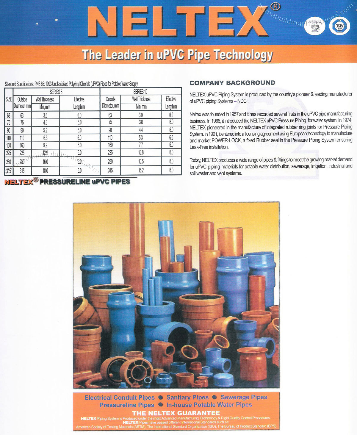 Upvc Pipe Electrical Conduit Sanitary Sewerage Potable