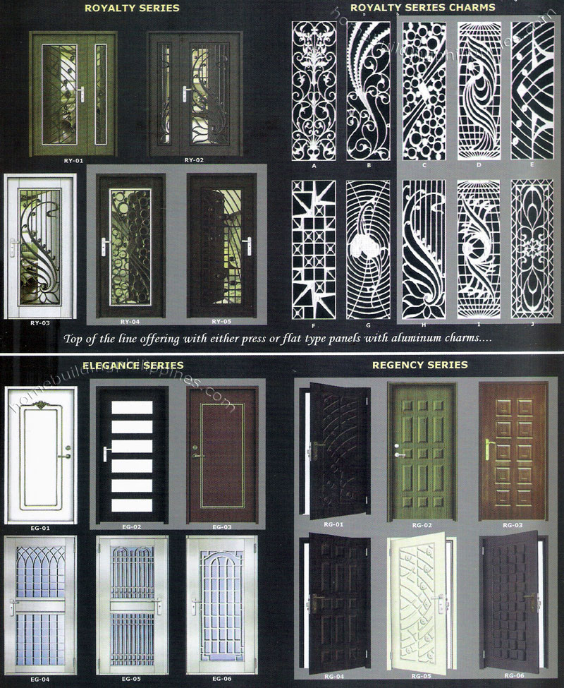 Lufata metal door philippines for Door design steel