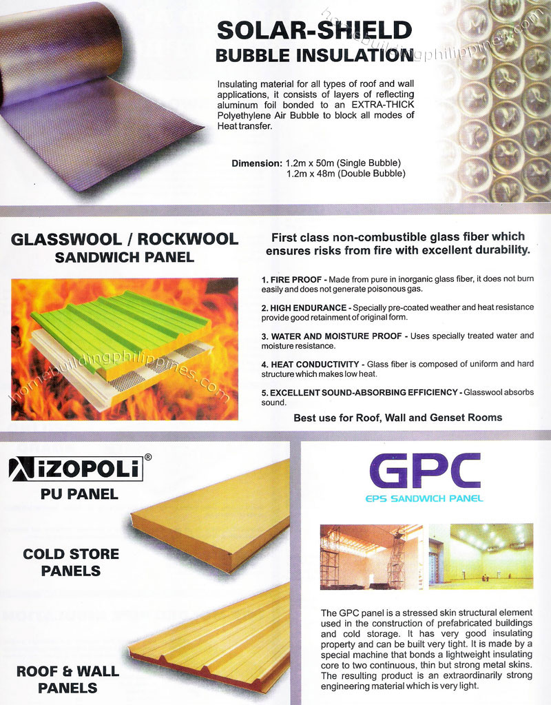 Solar Shield Bubble Insulation Glasswool Rockwool