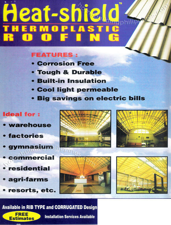 Heat Shield Thermoplastic Roofing Philippines