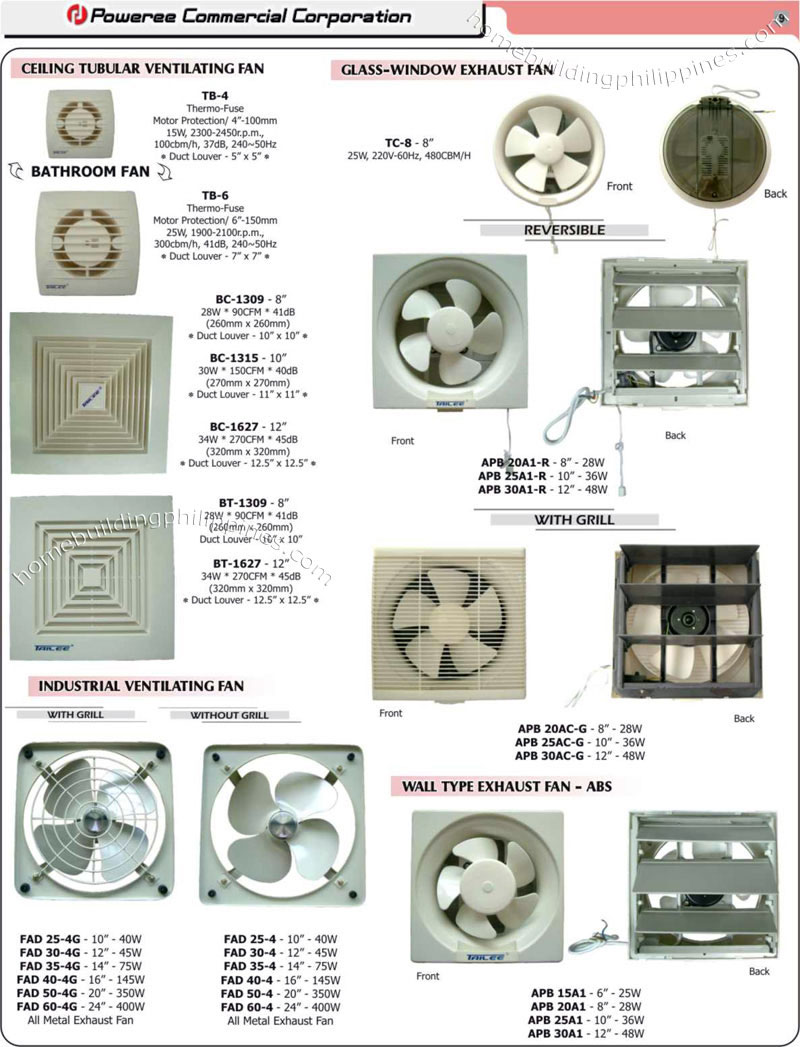 Ventilating Exhaust Fans Bathroom Fan Industrial Fan
