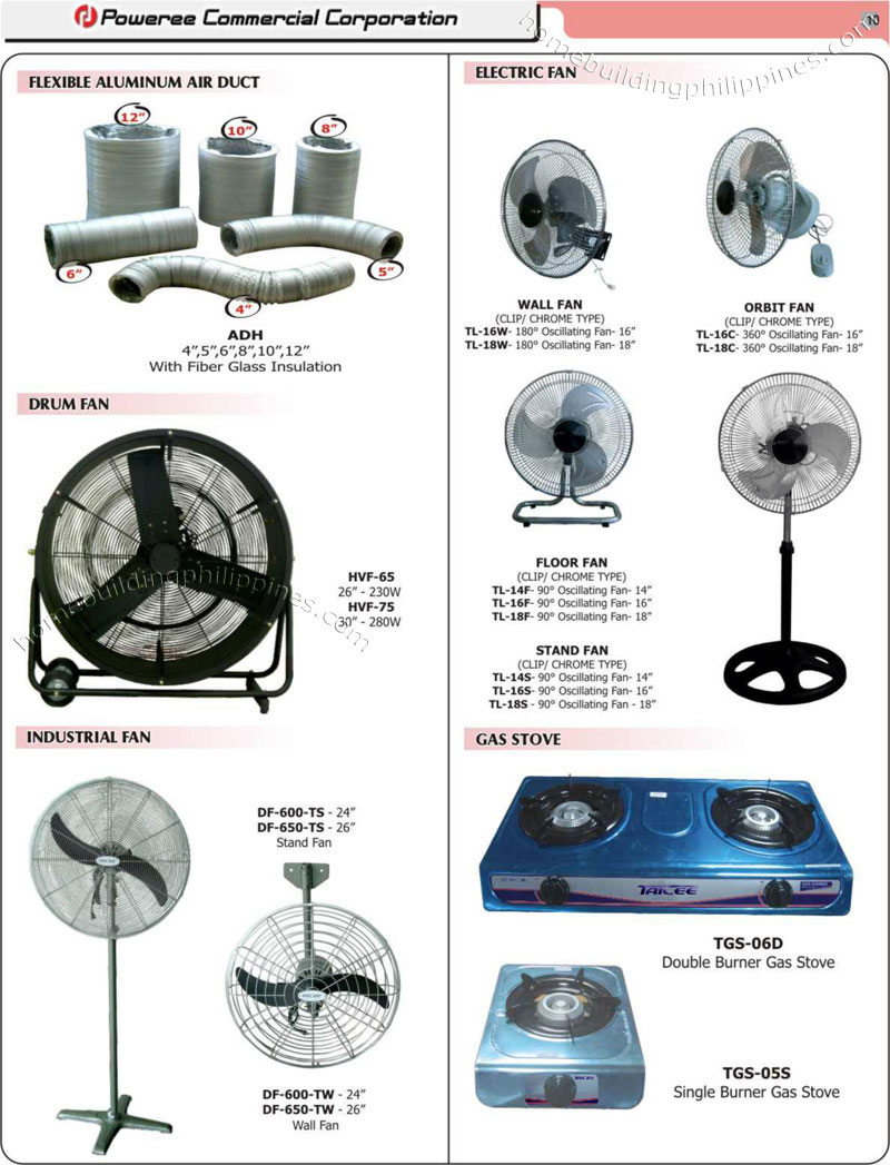 Aluminum Air Duct Industrial Fans Orbit Electric Fan