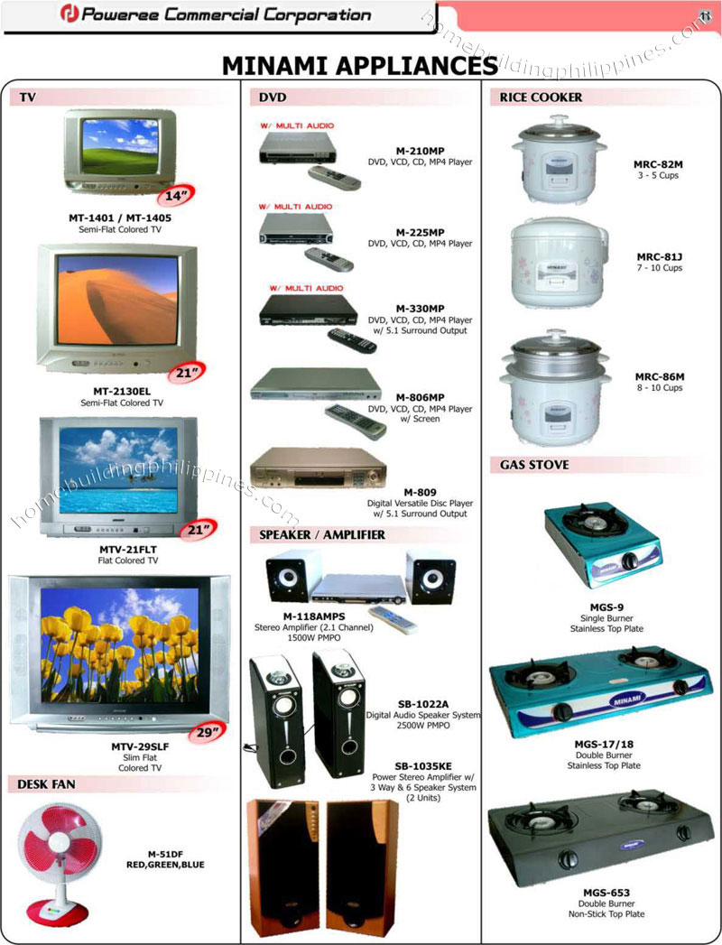 Household Appliances Crt Tv Dvd Player Rice Cooker