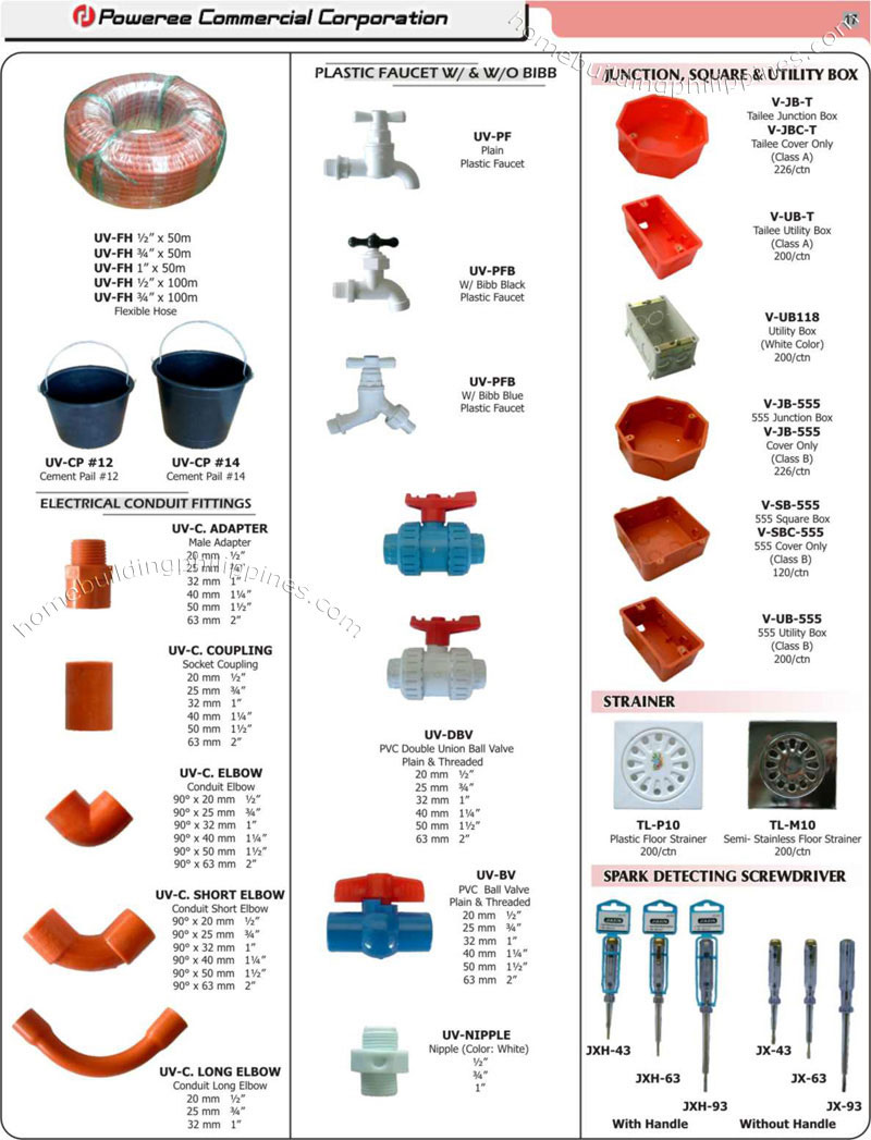 Supplies electrical supplies for Types of plumbing pipes materials