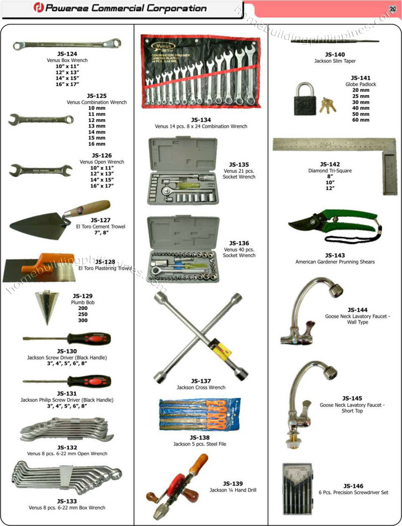 Hand Tools, Plastering/Cement Trowel, Hand Drill, Pruning ...