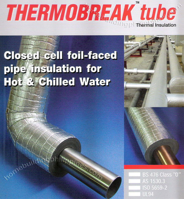 Closed Cell Foil Faced Pipe Insulation For Hot And Chilled